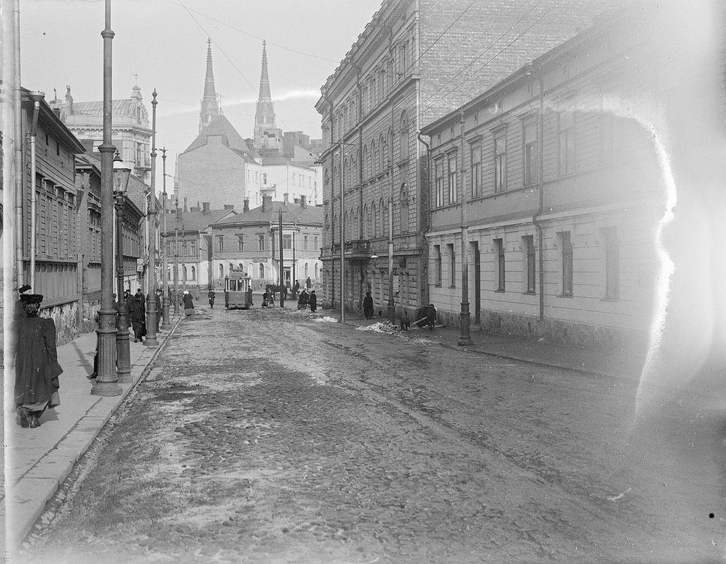 Punavuori, Helsinki. St. John's Church in the background