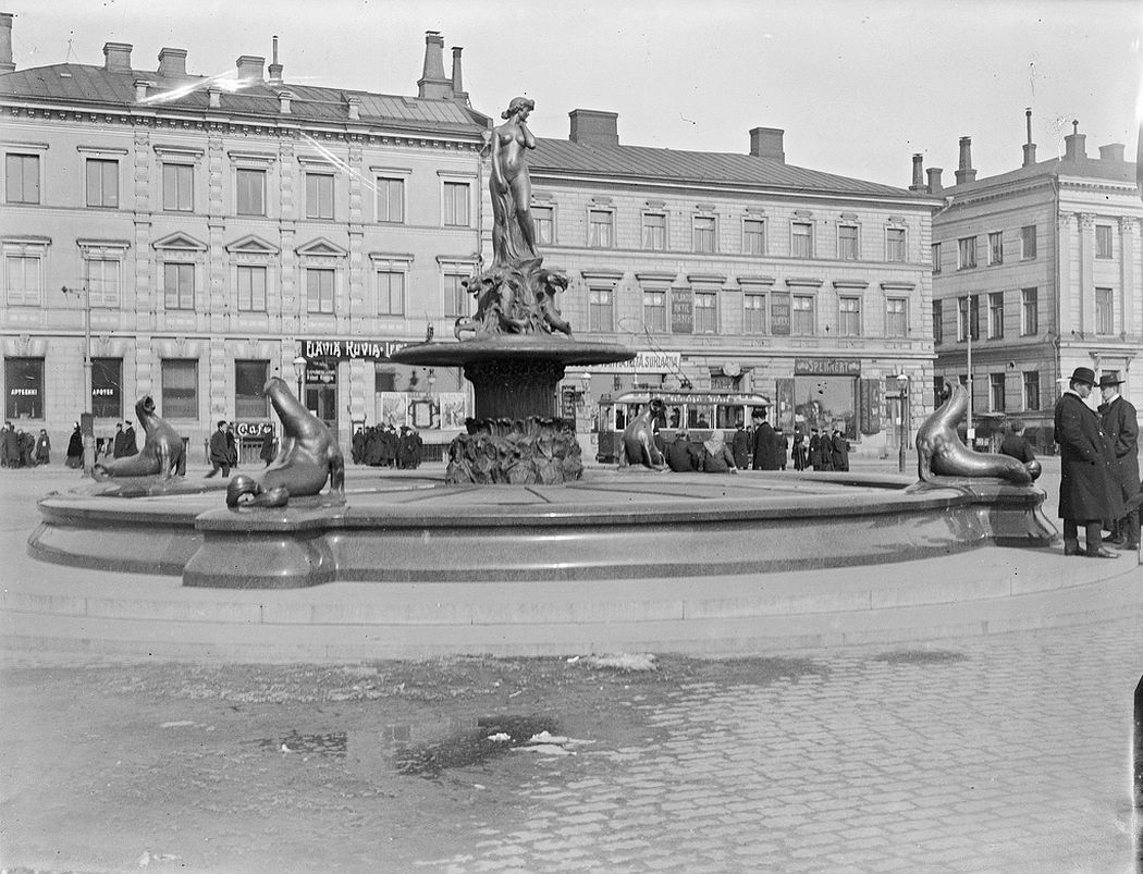 The statue Havis Amanda at Helsinki Market Square
