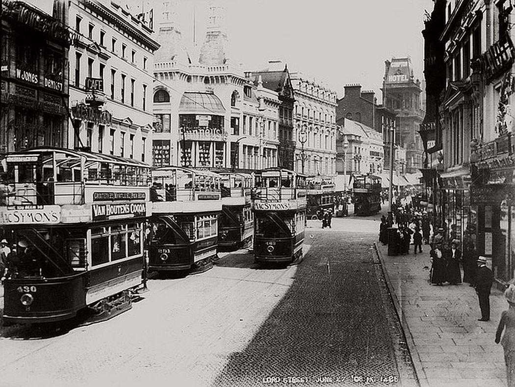 Lord Street looking towards Church Street, June 1908