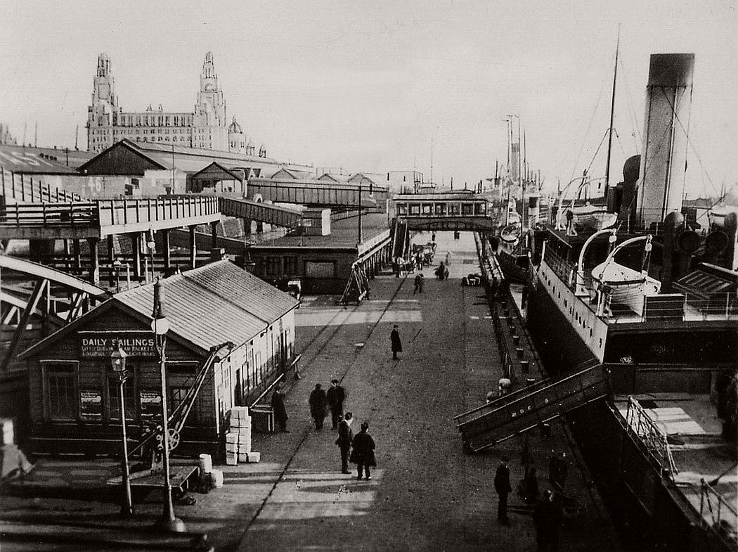 Princes Landing Stage, looking south, ca. 1920s