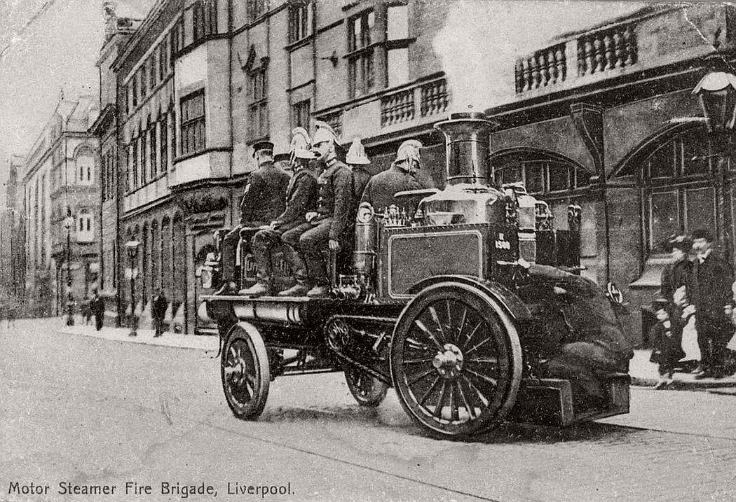 Steam fire engine, Liverpool