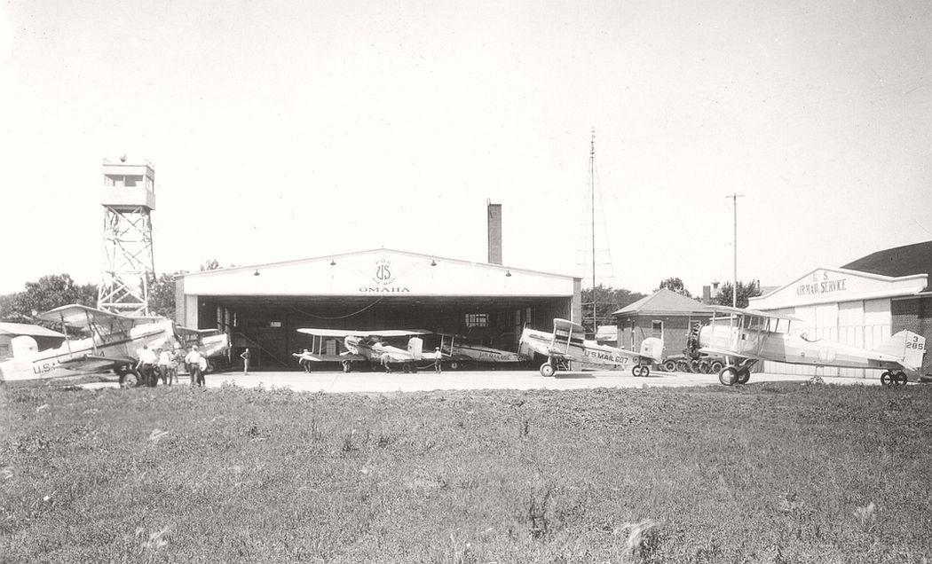 Airmail planes at Omaha, Nebraska, 1924