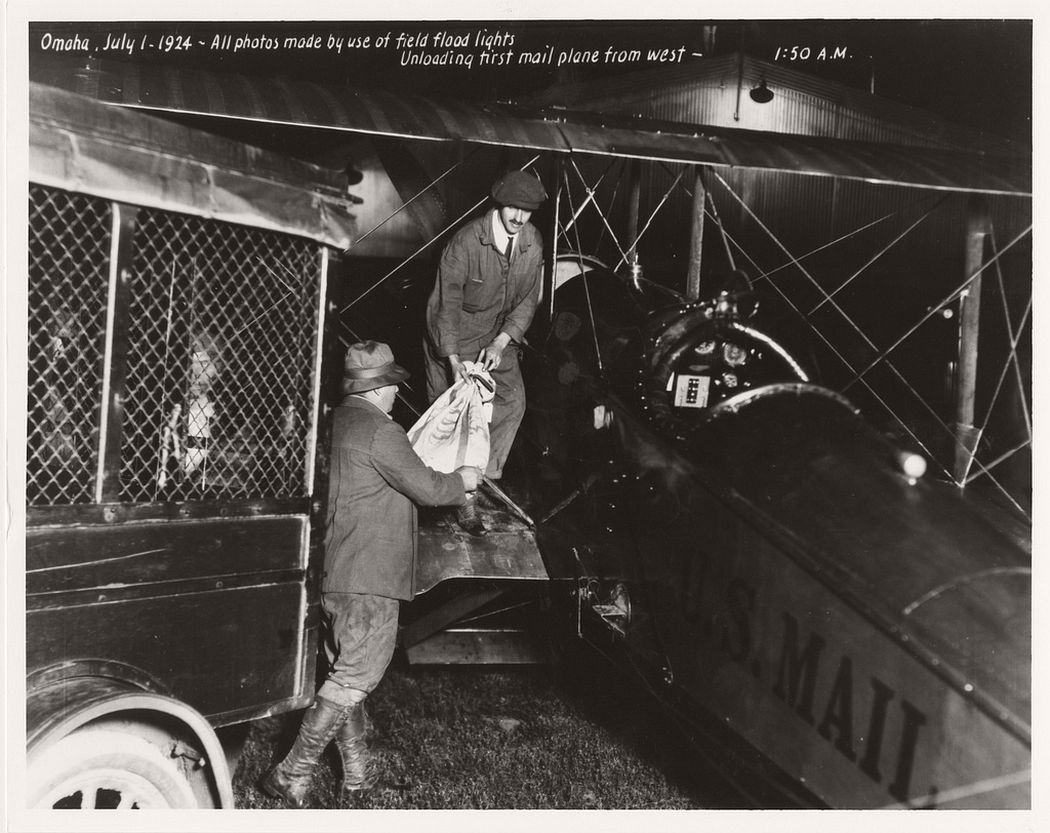Unloading Airmail in Omaha, Nebraska, July 1, 1924