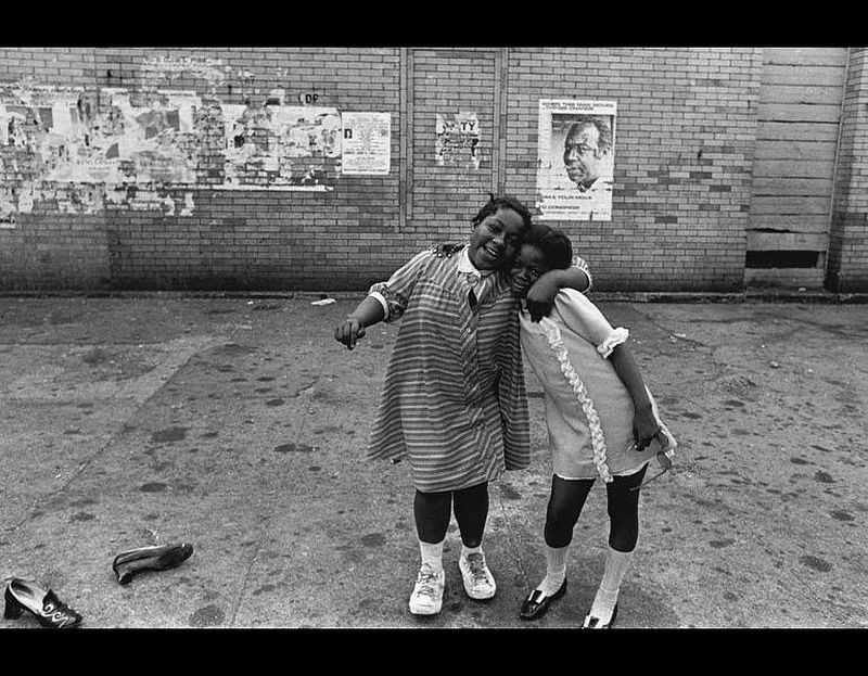 Girls Embracing, New York, c. 1965. Louis Draper (American, 1935–2002). Gelatin silver print; 27.9 x 35.6 cm. The Cleveland Museum of Art, Mr. and Mrs. Richard W. Whitehill Art Purchase Endowment Fund, 2016.274. © Louis H. Draper Preservation Trust.