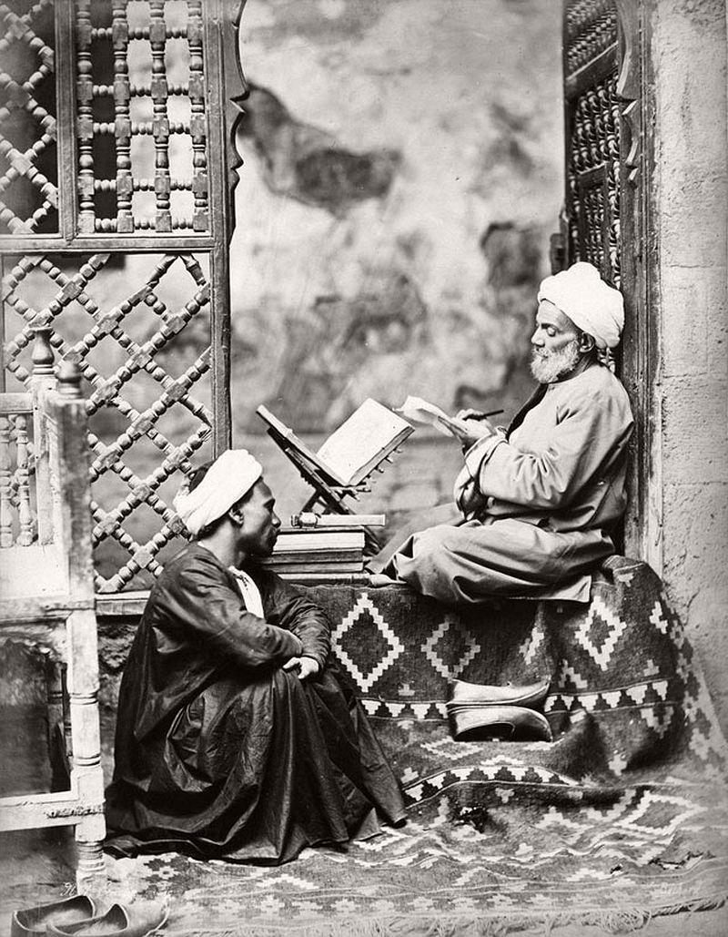 Public scribe, Cairo, 1880