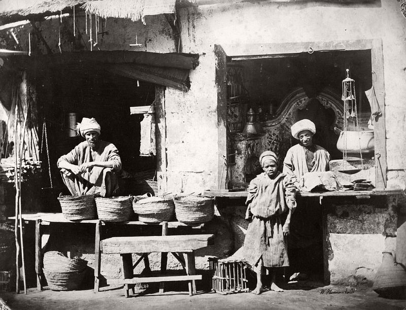 Rice and oil merchants, Cairo, 1860