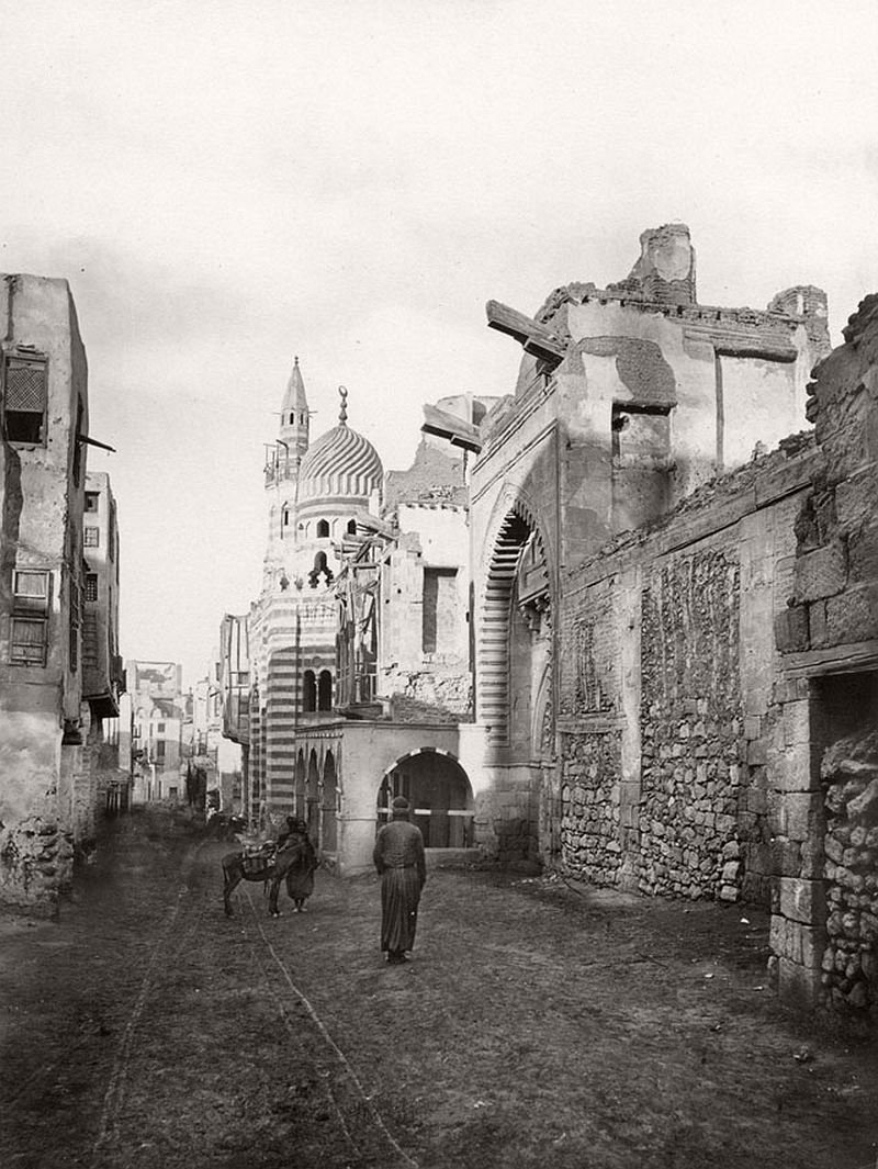 Street in Cairo, Egypt, 1865