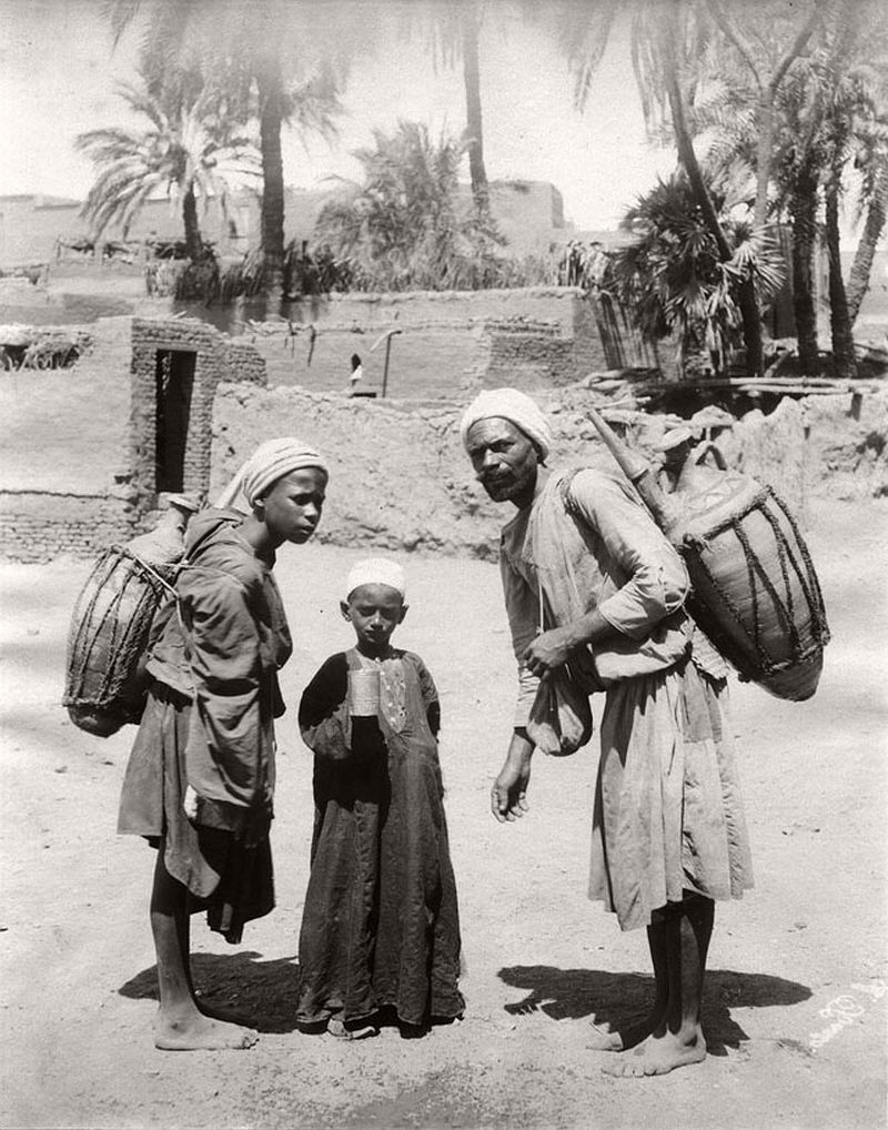 Water carriers, Cairo, 1864