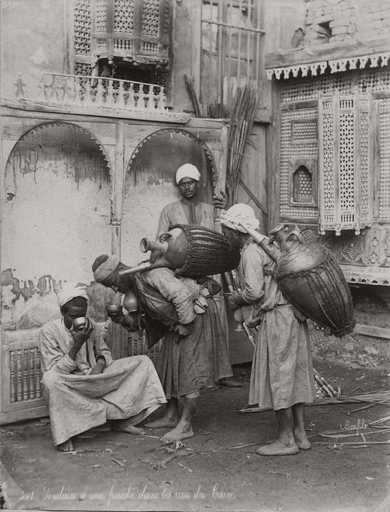 Water carriers, Cairo, Egypt, ca. 1880s