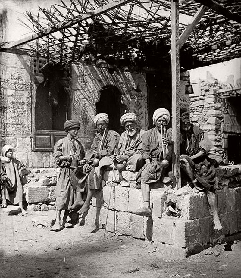 Cairo coffee house in the 1880s
