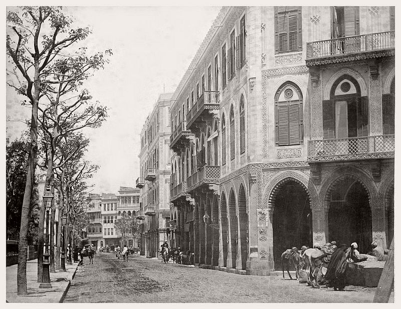 Downtown in Cairo, 1881