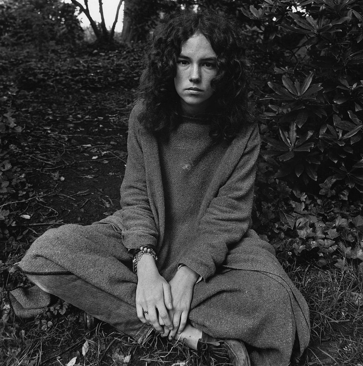 Young Woman in Park 1968