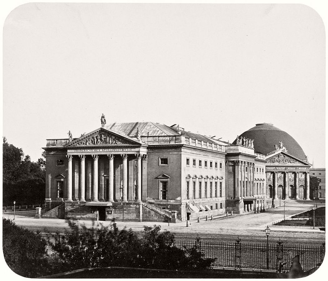 Leopold Ahrendts  Opera House and St. Hedwig Church, around 1856