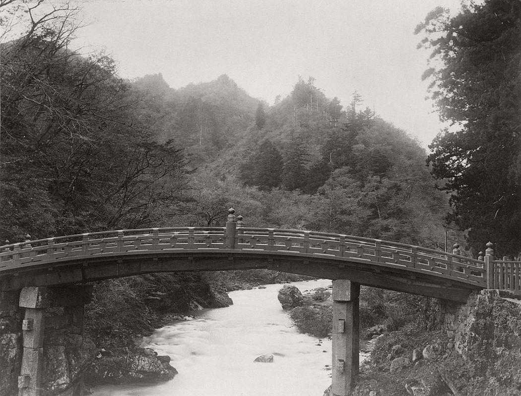 Shinkyo, sacred bridge of the Futarasan jinja, ca. 1870