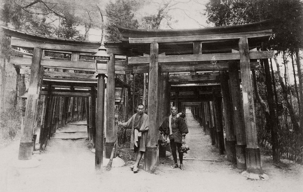 Shinto shrine of Fushimi Inari in Kyoto, ca. 1880