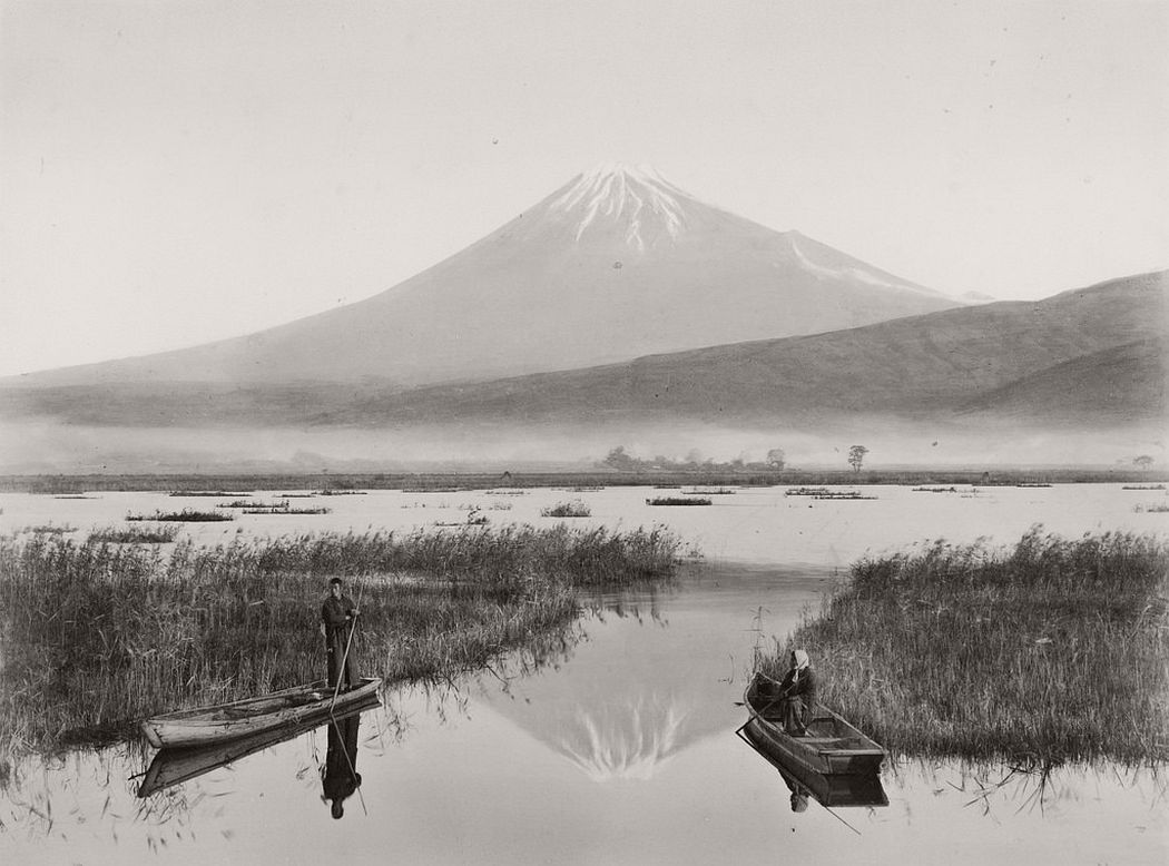 Fujiyama seen from Kashiwabara, ca. 1880