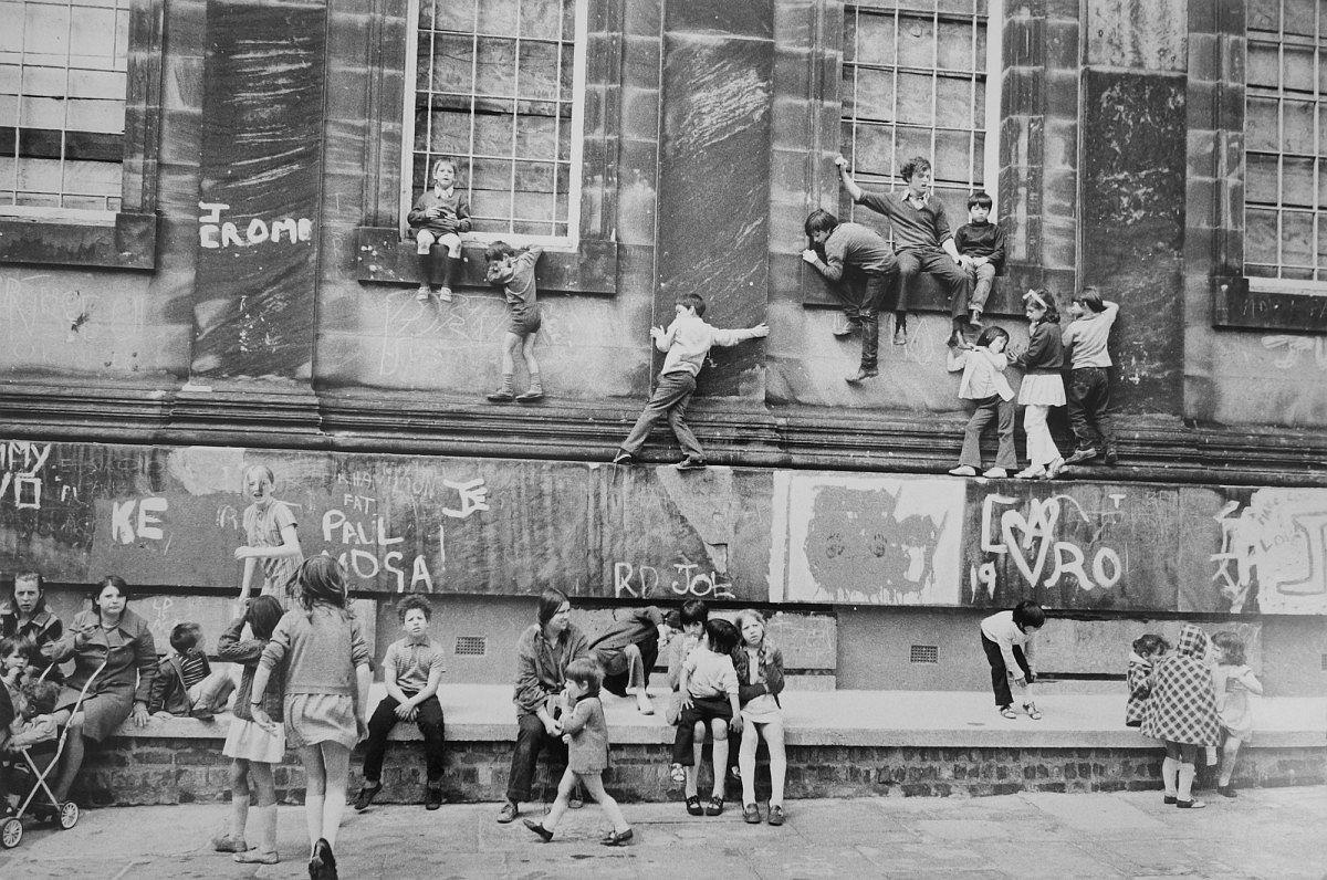 Outside the Black-E Art Centre, Liverpool, 1973, © Neil Libbert