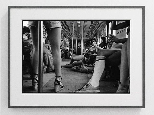 Susan Meiselas Pebbles, JoJo and Carol on the A train 1978