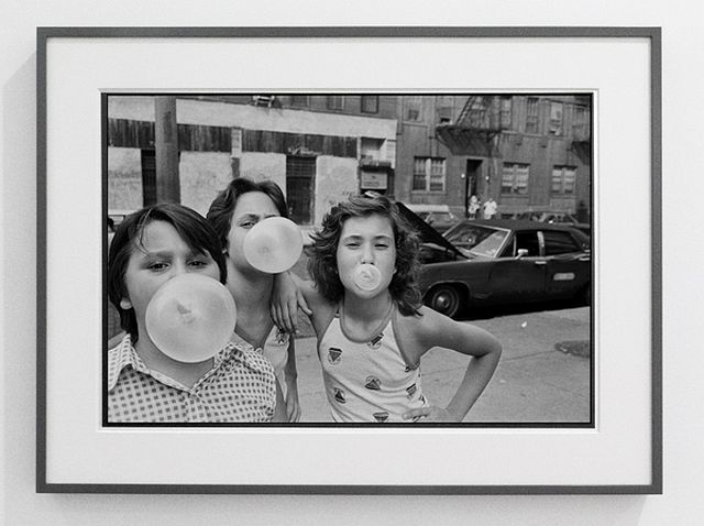 Susan Meiselas Carol, JoJo and Lisa hanging out on Mott Street 1976