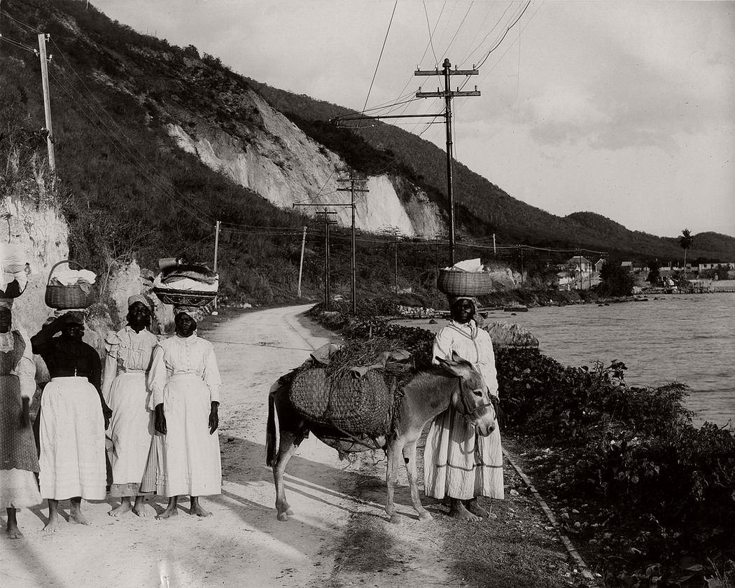Going To Market, Rockfort Road, Kingston, Jamaica, 1890