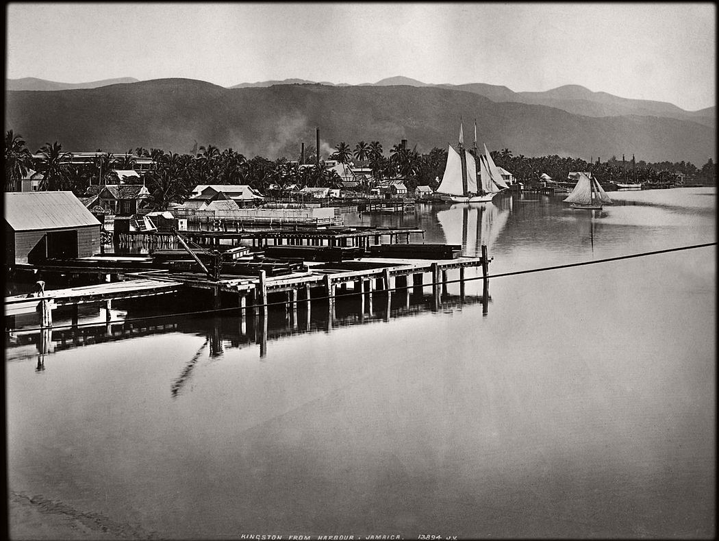 Kingston from harbor, Jamaica, 1891