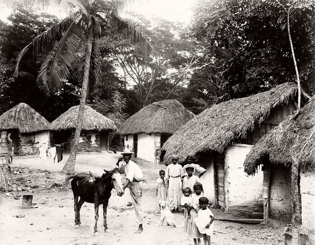 A rural village in Jamaica in the 1890s