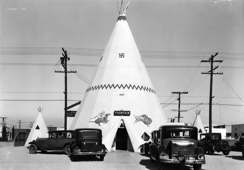 The teepee ice cream stand was located on 2nd Street and Covina Avenue in Long Beach.
