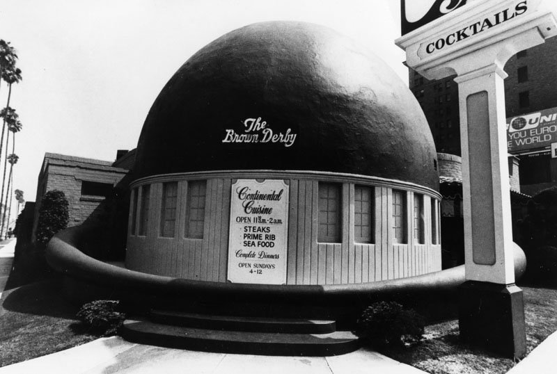The Brown Derby's hat-shaped dome.