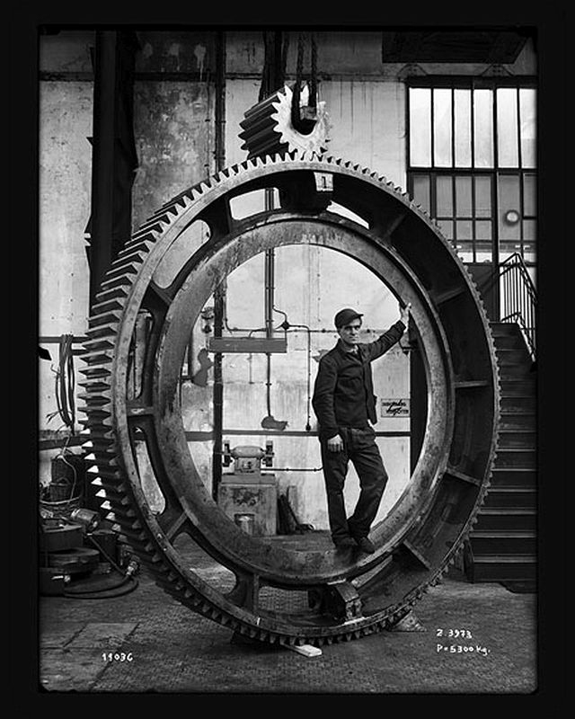 ARBED Dommeldange products: gearwheels. Around 1950 © CNA, Fonds Institut Emile Metz