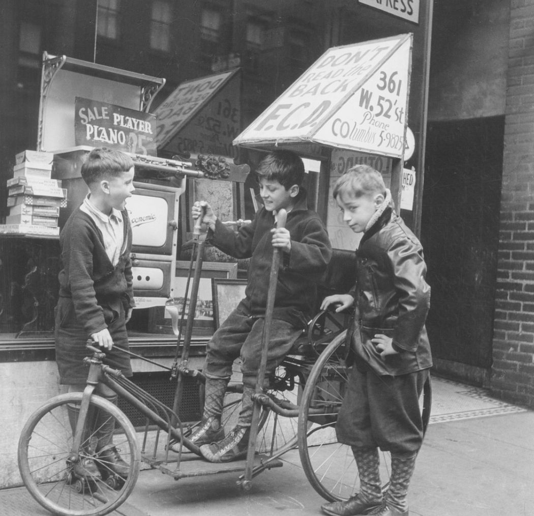 Three Boys on West 52nd Street, 1937