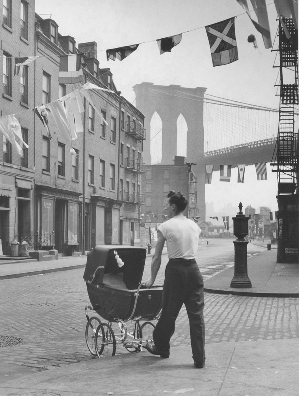 Father at the Brooklyn Bridge, 1947