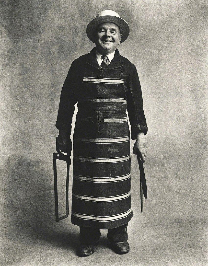 Irving Penn, Butcher, London-1950