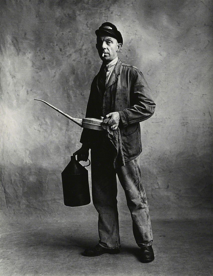 Irving Penn Engine Driver, London-1950