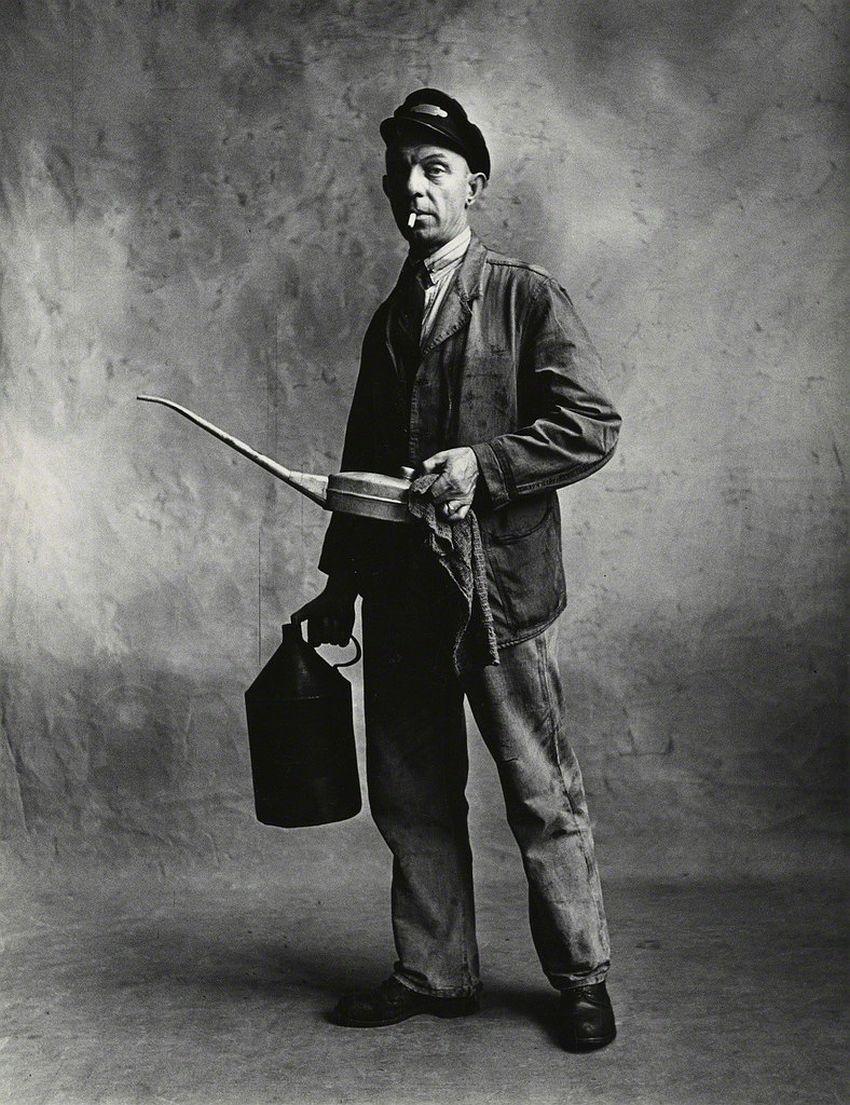 Irving Penn Engine Driver, London-1950