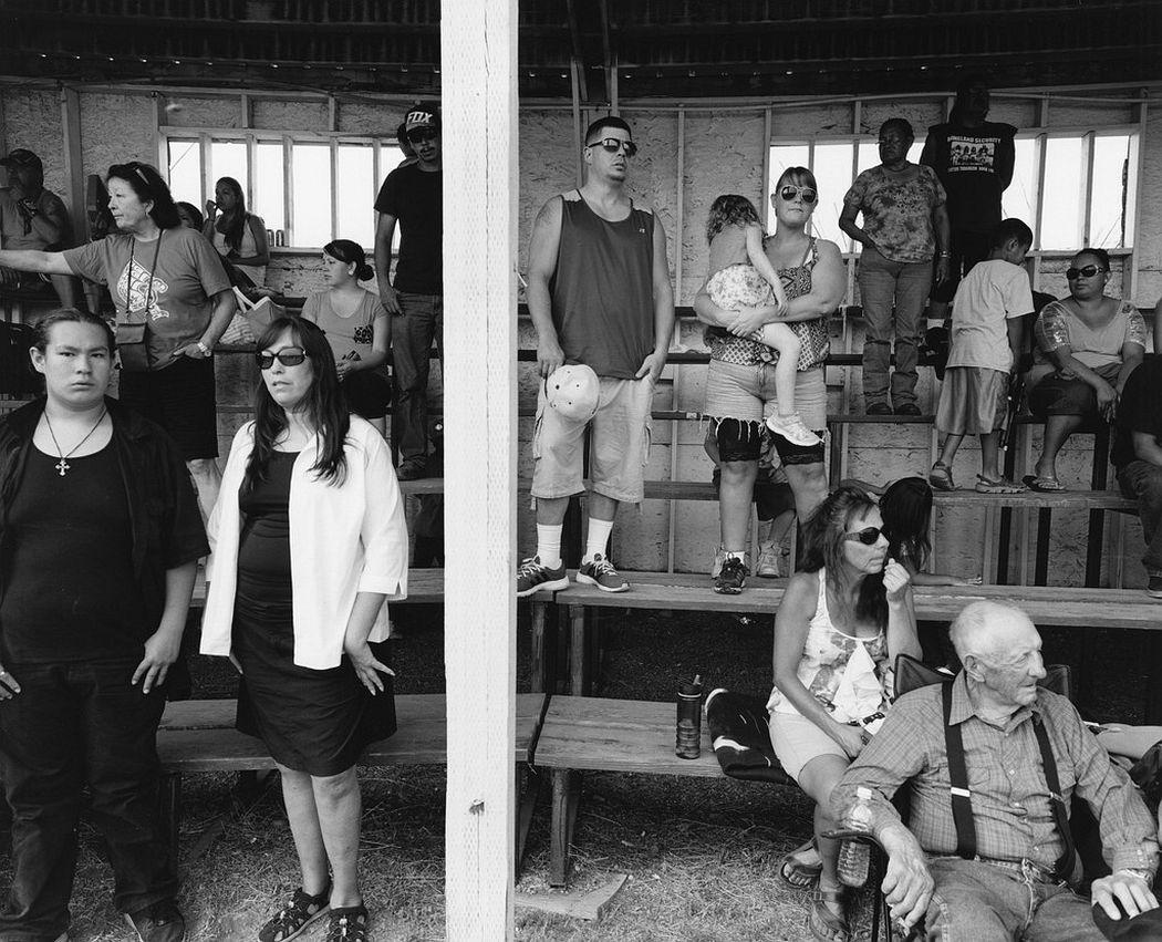 Tom Arndt  Bleachers 1, Indian Days, Browning, Montana, 2015  Howard Greenberg Gallery