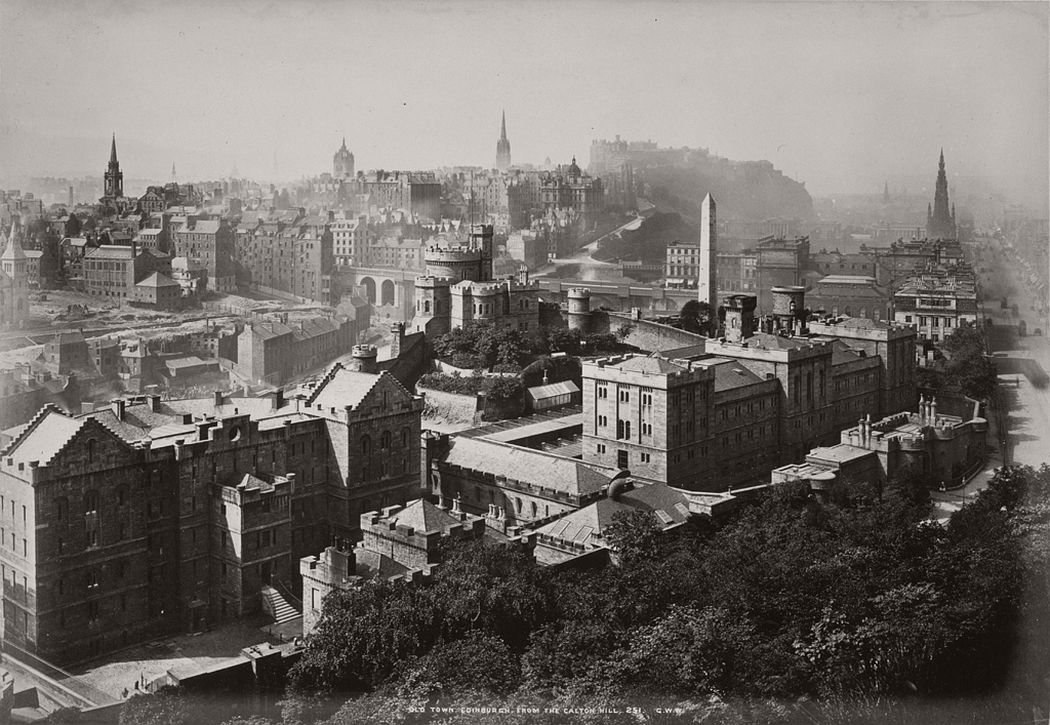 Old Town Edinburgh from the Calton Hill, ca. 1870s