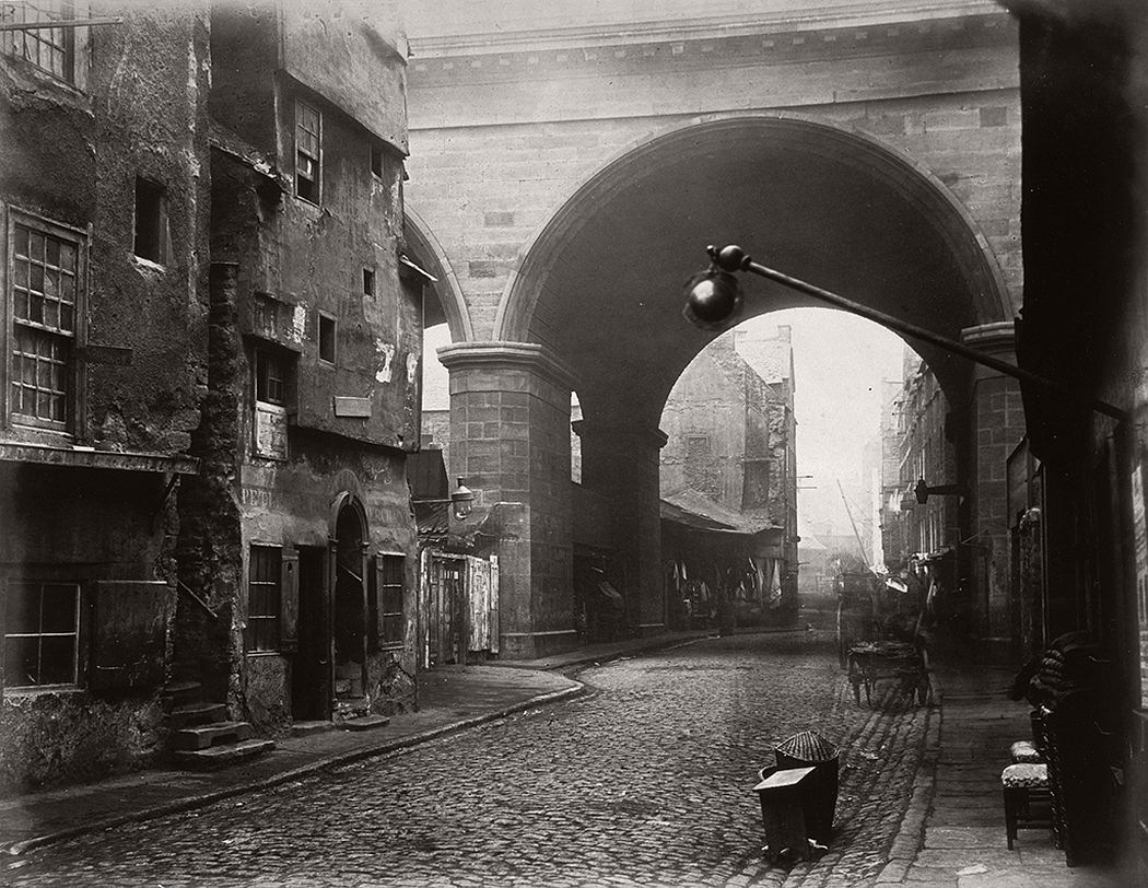 The Cowgate arch of George IV Bridge, Edinburgh, 1860
