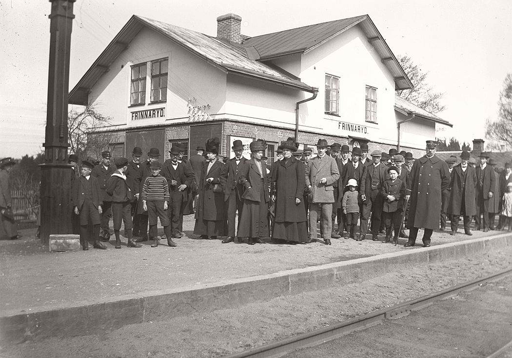 Frinnaryd station in 1913.