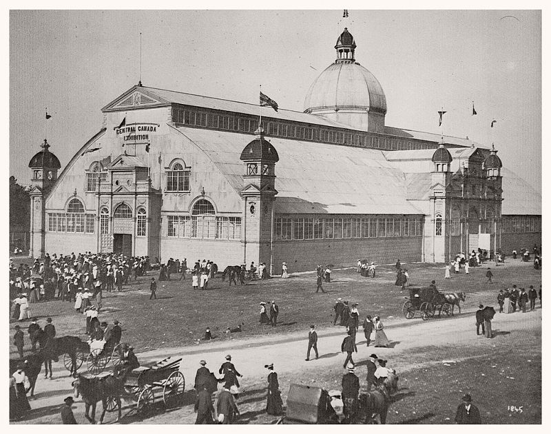 The main building of the Central Canada Exhibition, ca. 1890s