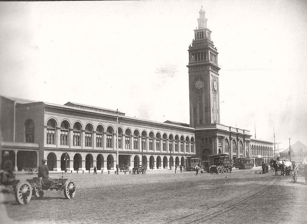 Ferry Bldg in SF, Cal. around 1900