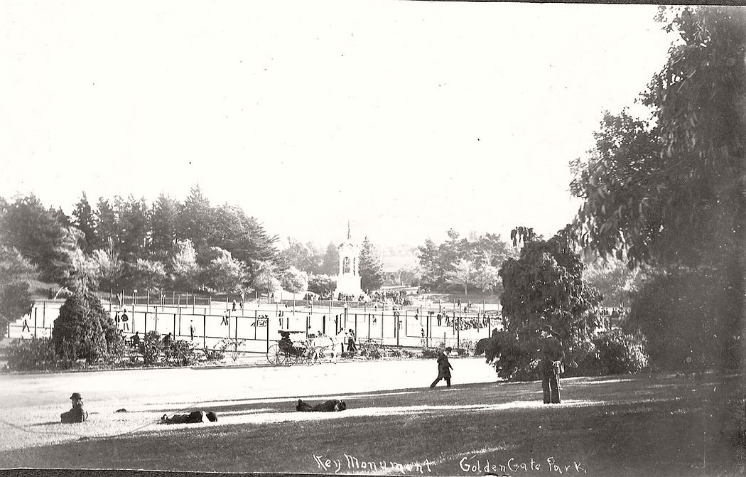 Key Monument in Golden Gate Park, SF, Cal. around 1900