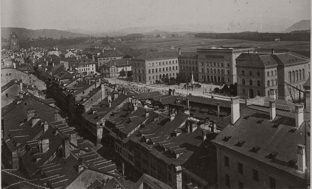 Bern vom Christoffelturm, 1863.