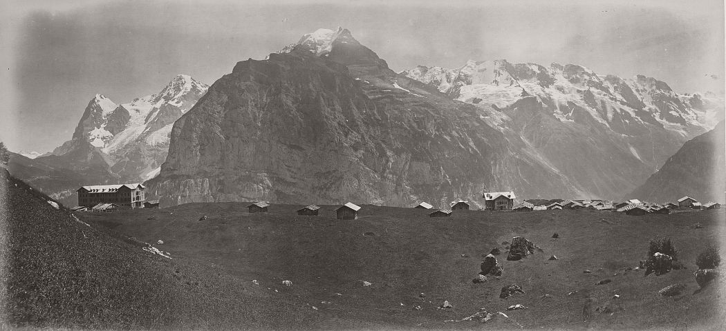 Panorama from Mürren, 1865.