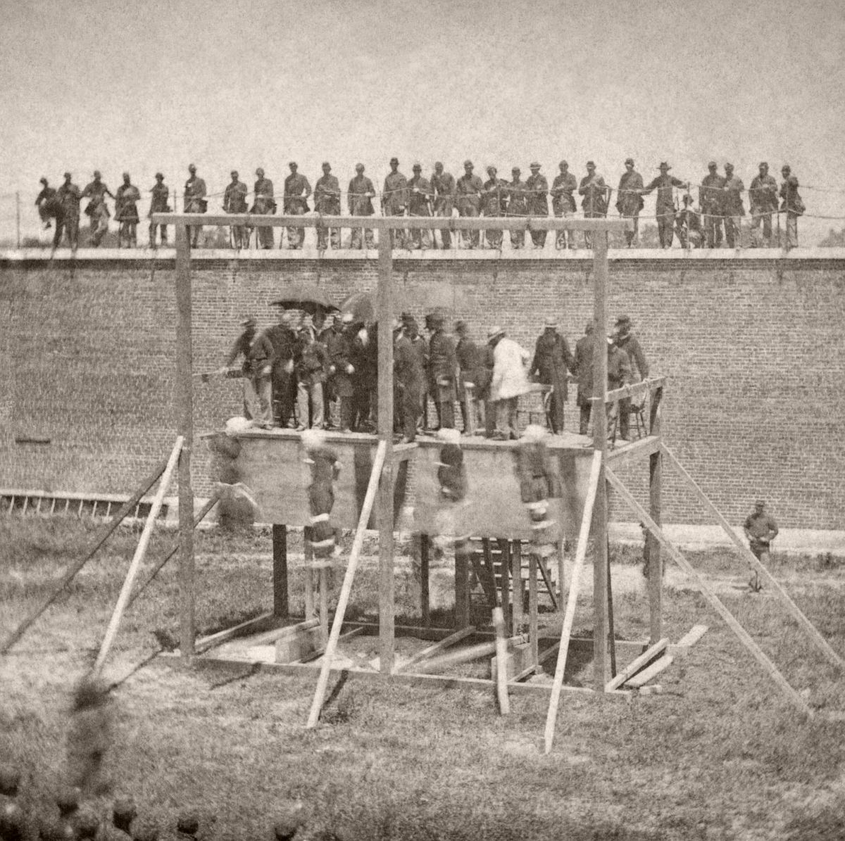 Execution of Mary Surratt, Lewis Powell, David Herold, and George Atzerodt-the Lincoln Assassination Conspirators; July 7, 1865