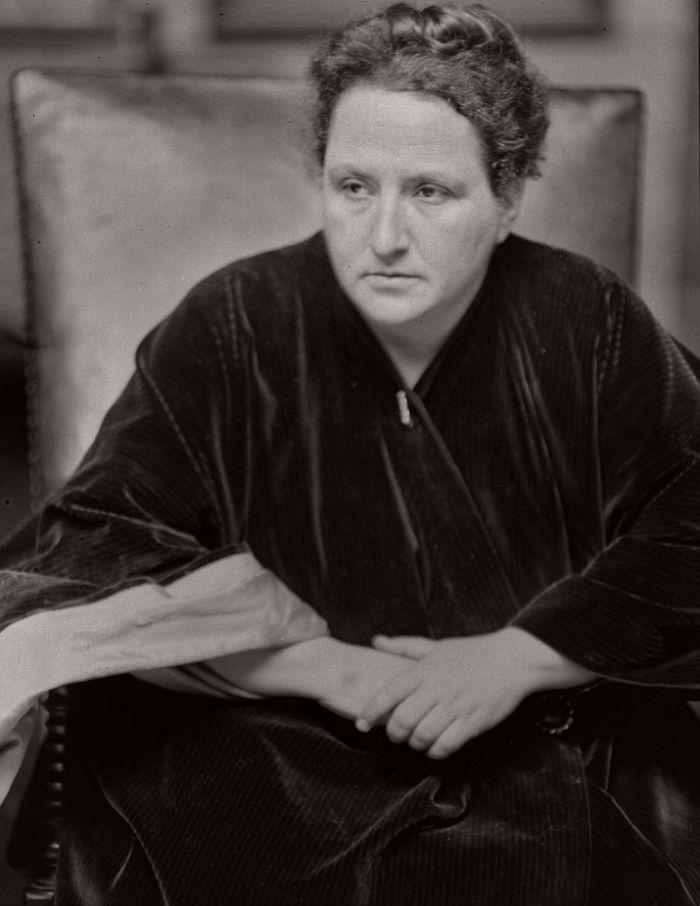 Gertrude Stein, 1913.
