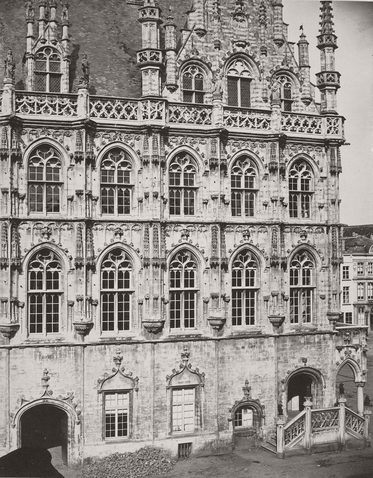 Audenarde. Hôtel de Ville, 1858.