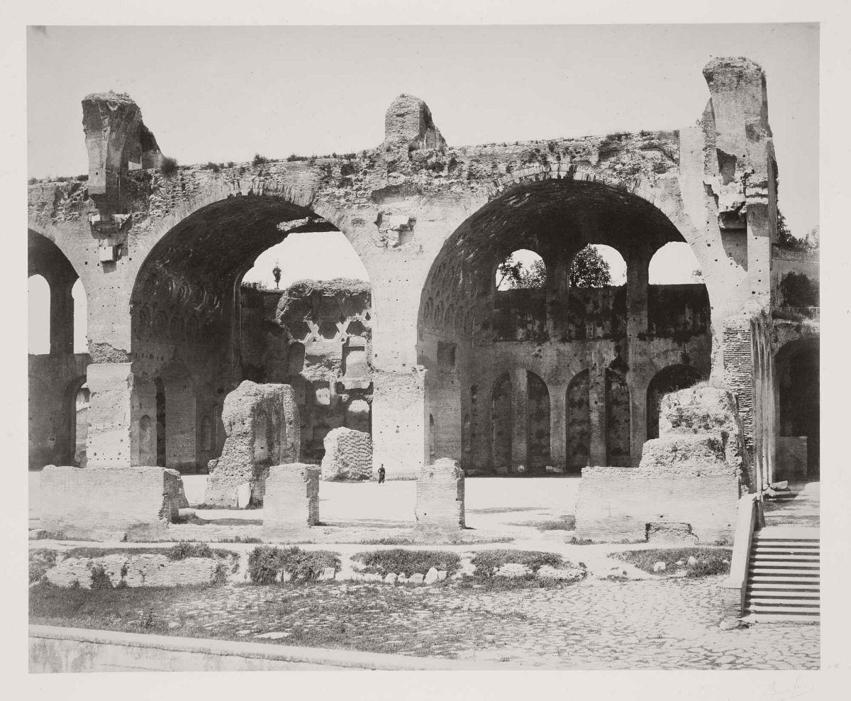 Basilica of Maxentius, Rome, 1860s.