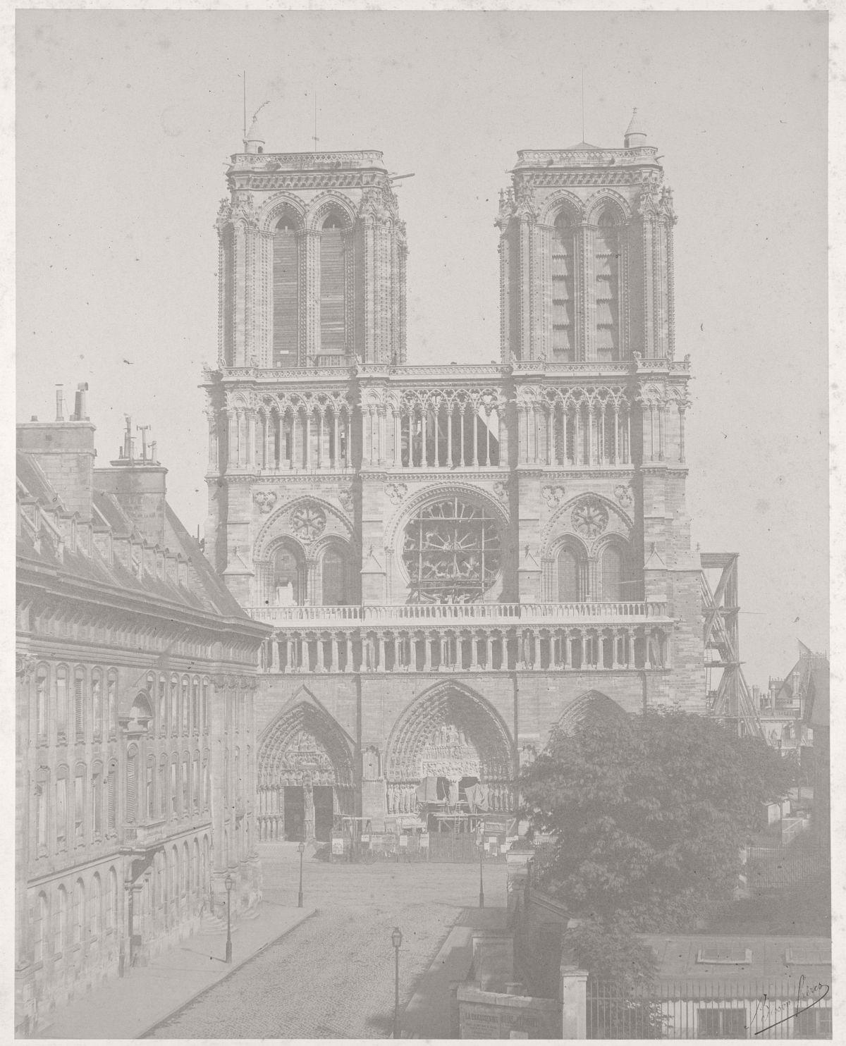Notre Dame, Paris, 1850s.