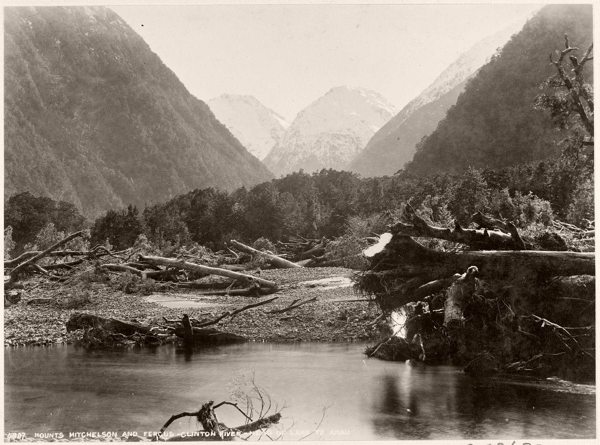 Mount Mitchelson and Fergus - Clinton River - Head of Lake Te Anau