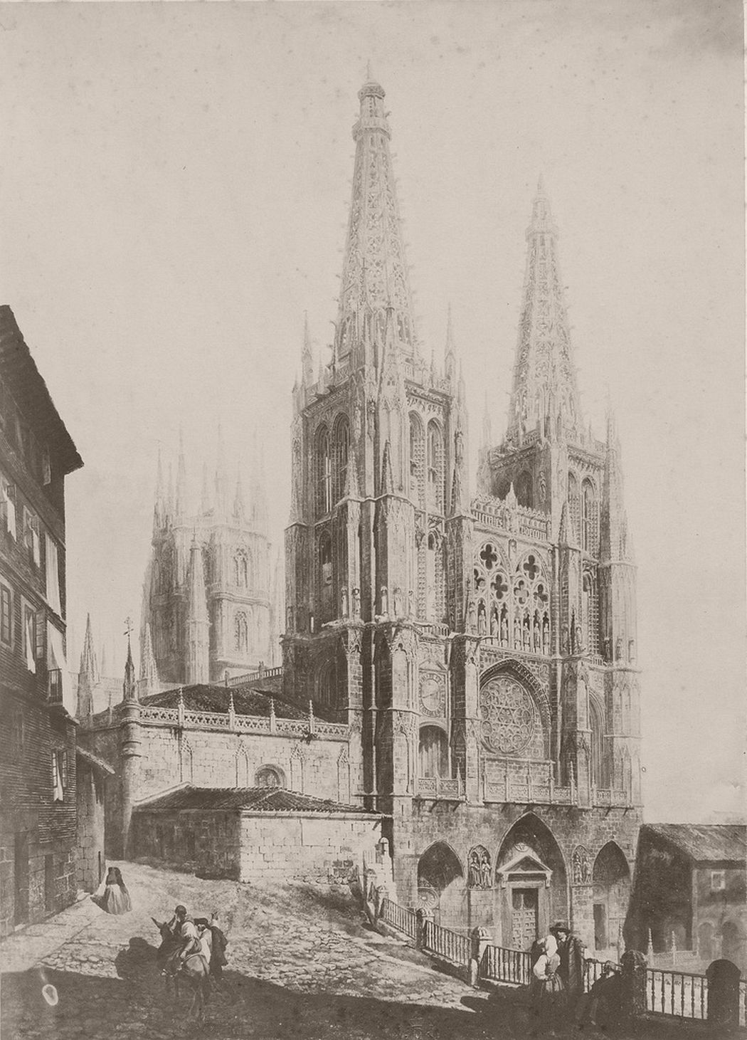 Painting of Burgos Cathedral, 1854